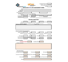 Example of a site assessment form